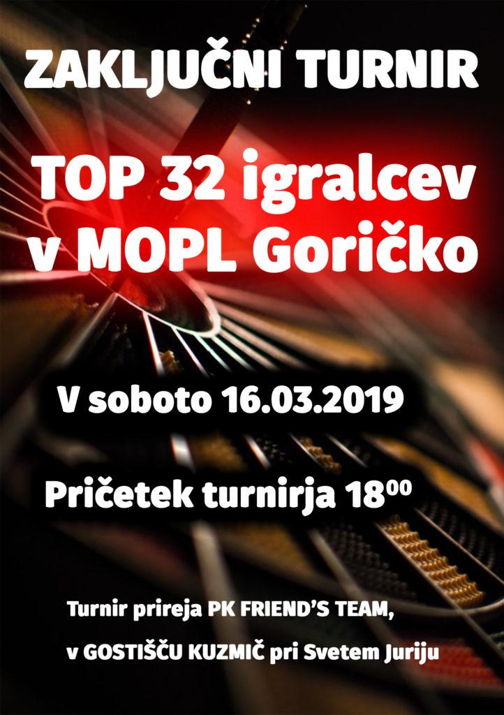 Zaključni turnir TOP 32 igralcev v MOPL Goričko @ Gostišče Kuzmič, Sveti Jurij